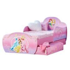 Cadres de lit et lits coffres roses en tissu pour la maison
