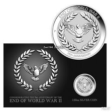 2020 The End of World World 2 WWII 75th Anniversary .9999 Silver Coin Australia.