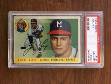 1955 Topps JOE JAY #134 Milwaukee Braves PSA 8 (OC) NM-MT