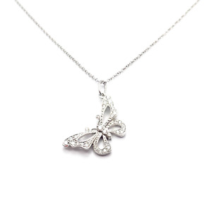 Authentic! Tiffany & Co Platinum Diamond Butterfly Necklace