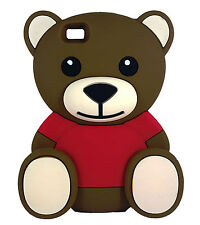 BROWN Super Cute Bow Teddy Bear Soft Silicone Case for Huawei P8 Lite