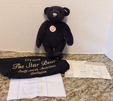 """Hard to Find 2006 Steiff Orion """"The Star Bear""""  Musical Teddy Bear Limited Ed"""