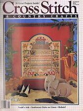 Cross Stitch Patterns Charts Noah's Ark Sunbonnet Babe Robots Decor Gifts 1987