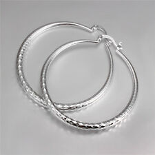 925 Silver Twinkle Big Round Hoop Dangle Earring Fashion Jewellery Gifts