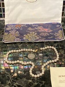 VTG Genuine Lustrous 7mm Round Cultured Pearls Necklace W/ 3 Earrings IRMELA'S
