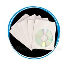 "4000 Wholesale CD DVD R Disc Paper Sleeve Envelope with 4"" Window &  Flap"