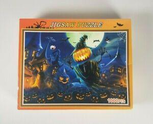 New - Halloween Jigsaw Puzzle Spooky Pumpkin Head Horror 1000 Pieces DCBA HGFE