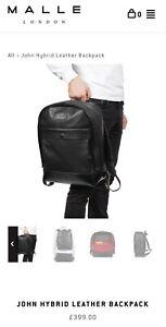 Malle London John Hybrid Leather Backpack Cafe Racer Luggage Triumph Scrambler