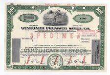 Muestra - Estándar Acero Prensado Co. Stock Certificado