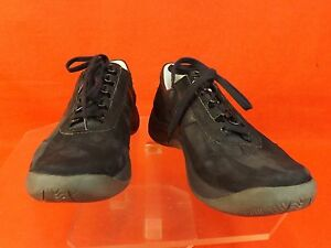 NWB MEPHISTO BLACK SUEDE LASER RUNOFF LACE UP SNEAKERS PORTUGAL 7.5