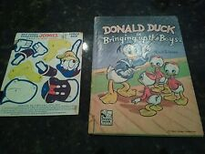 Donald Duck 1948 Bring Up The Boys Book & RARE Joinies Punch Out Disney