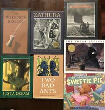 Lot 7 CHRIS VAN ALLSBURG Picture Books Polar Express Bad Ants Zathura HBDJ L1