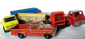 1972-73 - 6 x MATCHBOX > Truck Cabs and Trailers for RENOVATION -1:64 app - Fair