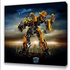 TRANSFORMERS BUMBLE BEE KIDS BEDROOM CANVAS PICTURE 25 X 25cm