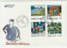 Faroe Islands 2001 Art, Paintings by Zacharias Heinesen to 15Kr, First Day Cover