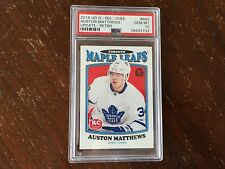2016/17 OPC Update Retro Auston Matthews #694 PSA 10 QTY AVL