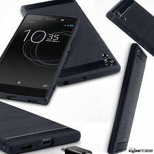 Sony Xperia XA1 ULTRA Custodia resistente agli urti Flex Micro Ballistic CARBON BLACK