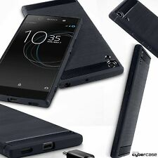 Xperia XA1 Case Impact Resistant Flex Micro Carbon Ballistic Design Black