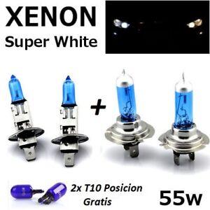 Bombillas H1+H7 55w/12v, halogenas, luz blanca, caja original, + T10 de regalo