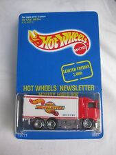 Hot Wheels 1993 Newsletter Hi-Way Hauler Exclusive Ltd 7000 Mint In Card