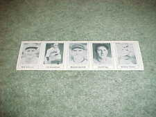 1978 Grand Slam Baseball Card Panel Ival Goodman Mike Kreevich Joe Stripp