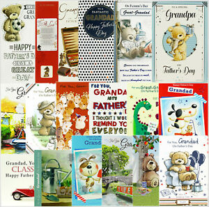 Grandad / Grandpa / Great-Grandad Father's Day Card - Various Designs Available