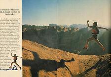 Publicité 1982  ( Double page )  le coq sportif chaussure basket Dynatec sport