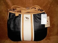 Emma Fox White Space Crossbody Hobo Black & Bone Leather NWT MSRP 168.00 REDUCED