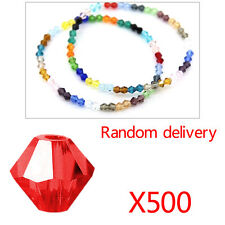 500Pcs Crystal Mixed Color Acrylic Faceted Round Spacer Beads 6Mm