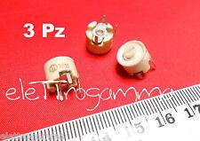 3 Pz X 3-10 pF compensatore capacitivo ceramico  trimmer condensatore variabile