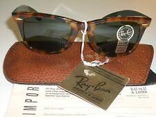 VINTAGE B&L RAY BAN SPECIAL EDITION TORTOISE G15 WAYFARERs 5022 SUNGLASSES NEW