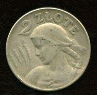 1925 Poland 2 Zlote Coin