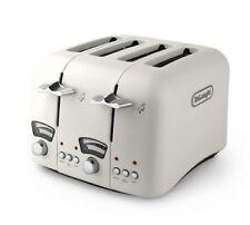 Delonghi CTO4-E 4 Slice Reheat/Defrost Toaster in Cream retro New In Box