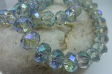 70 pce Blue Faceted Abacus Electroplate Glass Beads 10mm x 8mm Jewellery Making