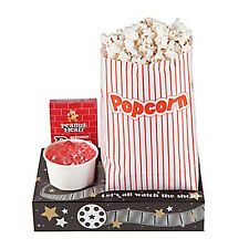 HOLLYWOOD MOVIE NIGHT Cinema Style Snack Tray Theatre Drink Carrier- x 1