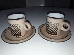 3 avv Hornsea Pottery Saffron Cup /& Saucer 1960s//70s Retro Kitchenalia British