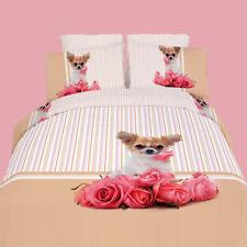 Queen Duvet Cover Set - 6 Piece 100% Cotton Adorable Doggie Design by Dolce Mela