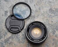 Auto Mamiya Sekor 50mm f/2 Prime Lens Caps M42 Mirrorless NEX M4/3 (#3646)