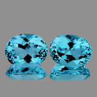9x7mm OVAL 2 PIECES AAA SKY BLUE TOPAZ NATURAL GEMSTONE [FLAWLESS]