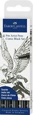 Faber Castell Tuschestift schwarz PITT artist pen Comic Black Set 4er Set Etui