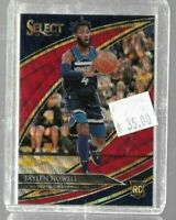 Jaylen Nowell 2019 Panini Select TMall rookie courtside red wave -- Timberwolves