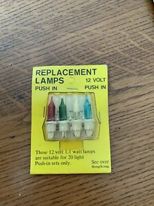 NOMA CAT № 141 EQUIVALENT 12V 1.1W PUSH-IN LAMP BULBS FOR BS4647 20 BULB SETS