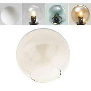 Vintage industrial glass lamp with shade
