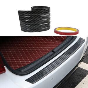 35'' Car Bumper Rear Trunk Door Sill Guard Protector Cover Strip Trim PVC Rubber