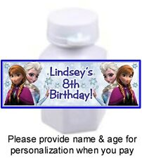 30 Frozen Birthday Party Or Baby Shower Mini Bubble Stickers Labels Anna & Elsa