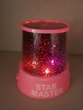 Childrens pink Star Master Night light. Sky Led Projector mood lamp.