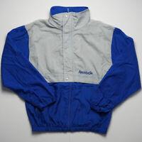 Reebok Vintage Jacket VTG Windbreaker Grey Blue 90s Full Zip SIZE SMALL