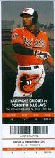 2013 Orioles vs Blue Jays Ticket: Matt Wieters homered/Jim Johnson 48th Save