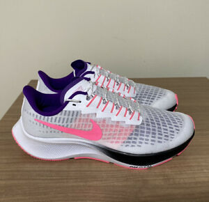 NIKE AIR ZOOM PEGASUS 37 ID MADE BY YOU RUNNING TRAINERS UK5.5, EUR39 WHITE PINK