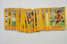 AFL 1995 West Coast Eagles set of 18 cards issued by Healthway